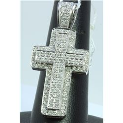 14K WHITE GOLD PENDANT 14.60GRAM  DIAMOND 1.75CT