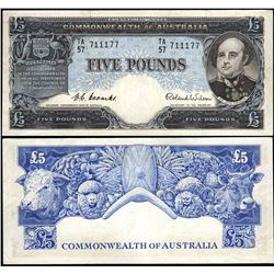 Australia, Five Pounds, Coombs/Wilson (1954) TA/57 711177 (R.49)