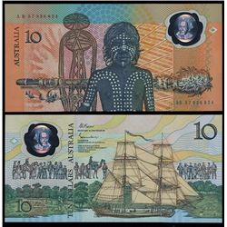 Australia, Ten Dollars, Johnston/Fraser (1988) AB/57 936824 (R.310a)