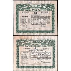 Australia, One Pound, War Savings Certificate