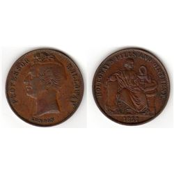 Australia/Great Britain, Professor Holloway, London Halfpenny, 1857