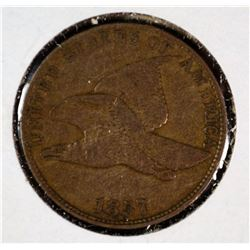 1857 FLYING EAGLE CENT VF/XF