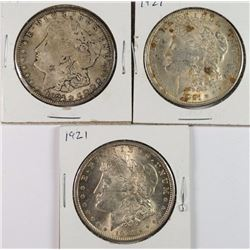 3-1921 MORGAN DOLLARS AU+