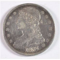 1837 HALF DOLLAR WITH GRAFITTI ON OBVERSE XF