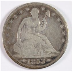 1853-O SEATED HALF DOLLAR VG