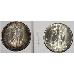 (2)  BU 1937 WALKING LIBERTY HALF DOLLARS