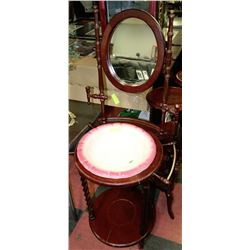 Vintage wash station with wash basin and mirror for Wash basin mirror price