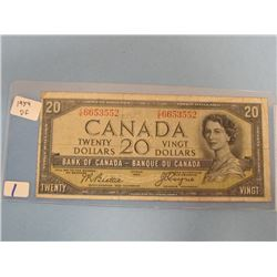 1954 Devils Face Bank of Canada $20.00 Bill