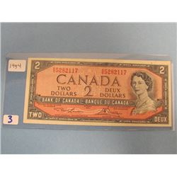 1954 Bank of Canada $2.00 Bill