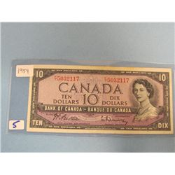 1954 Bank of Canada $10.00 Bill