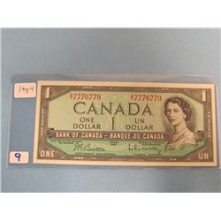1954  Bank of Canada $1.00 Bill