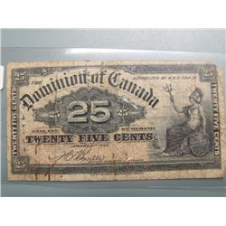 1900 Dominion of Canada 25 cent Shinplaster