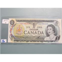 1973 Asterisk Bank of Canada Replacement $1.00 Bill
