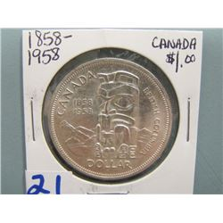 Canadian Silver Dollar  1858 - 1958
