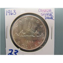 Canadian Silver Dollar 1963