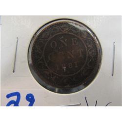 Canada Large Penny 1881 - H
