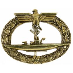 PRESENTATION U-BOAT BADGE WITH DIAMONDS GIVEN U-BOAT