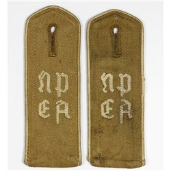 HITLER YOUTH N.P.E.A. SHOULDER BOARDS
