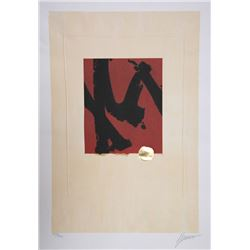 Max Hayslette, Abstract M, Lithograph and Foil