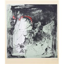 Lebadang, Fighting Horses, Lithograph with Intaglio Etching