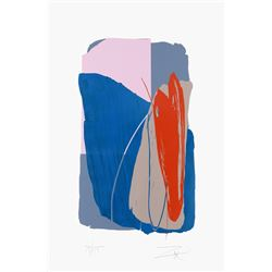 Larry Zox, Untitled, Abstract Serigraph