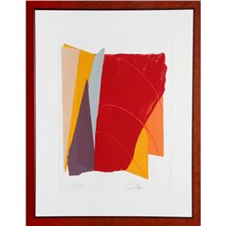 Larry Zox, Red Line I, Serigraph