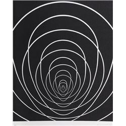 Clarence Holbrook Carter, Concentric Space (White), Silkscreen