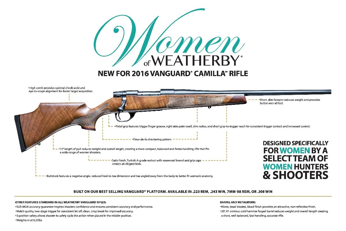 Vanguard Camilla by Weatherby with Leupold VX3i 3.5-10x40 Scope