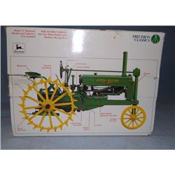 JD A steel wheeled tractor, 1:16, NIB