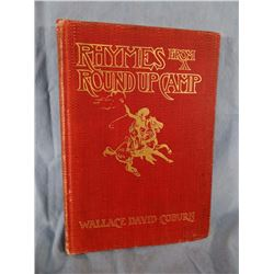 Coburn, Wallace, Rhymes From A Roundup Camp, 1903, illus. by CM Russell. Later edition, expertly rep