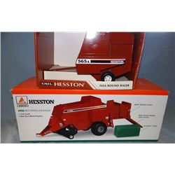 2 pcs: Hesston 4755 big sq. baler and 565A rd baler, 1:16, NIB