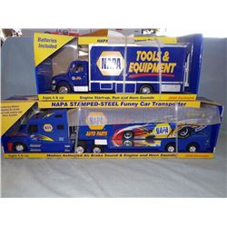 2 Napa 2008 & 09 Parts Semi Trucks, NIB
