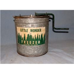 Little Wonder galvanized ice cream freezer, 2 1/2 pint