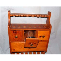 "Pipe & Tobacco cabinet, wall mount, 13"" x 17"""