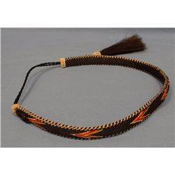 Hitched horsehair hatband, made in Mike Durfee State Prison, Springfield, South Dakota