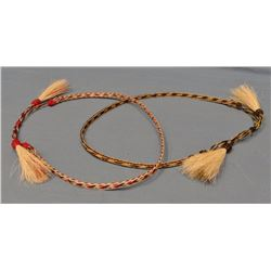 2 braided horsehair hatbands, made in Mike Durfee State Prison, Springfield, South Dakota