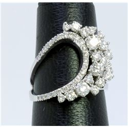 14K WHITE GOLD RING 5.10GRAM  DIAMOND 1.50CT