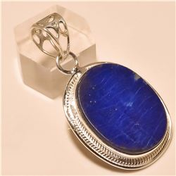 Blue Lapis Pendant Solid Sterling Silver