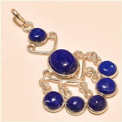 lapis Pendant Solid Sterling Silver