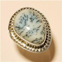 Dendrite Opal RING Solid Sterling Silver