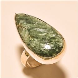Seraphinite RING Solid Sterling Silver