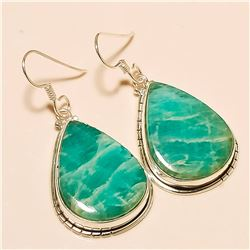 Amazonite Earring Solid Sterling Silver