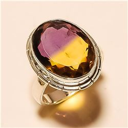 Ametrine RING Solid Sterling Silver