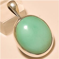 Turquoise Pendant Solid Sterling Silver