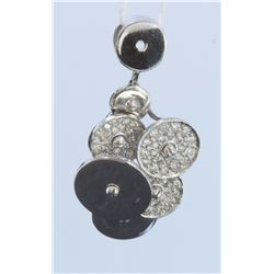 14K WHITE GOLD PENDANT: 6.6g / Diamond: 0.73ct
