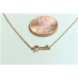 14K ROSE GOLD PENDANT WITH CHAIN 1.67g/Diamond 0.01ct