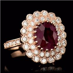 ONE CENTER OVAL CUT NATURAL BURMA RUBY TW:4.60CTS