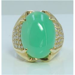 14K:8.23g/Diamond:0.75ct/Jade:12.27ct
