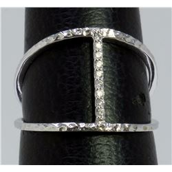 14K WHITE GOLD RING 2.00GRAM DIAMOND 0.07CT