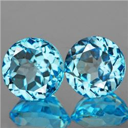 Natural Sky Blue Topaz Pair 8.21 Carats - Flawless